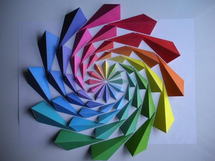 Как сделать из цветной бумаги геометрические фигуры