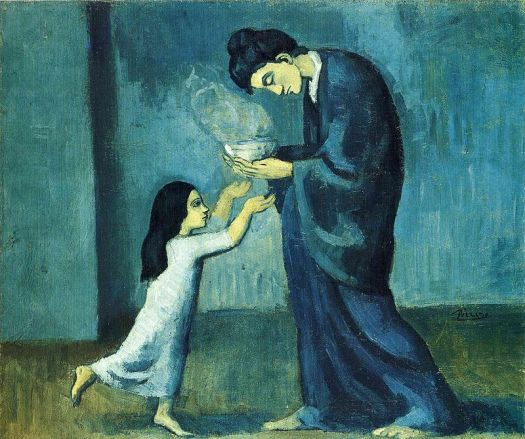 Pablo_Picasso,_1902-03,_La_soupe_(The_soup),_oil_on_canvas,_38.5_x_46.0_cm,_Art_Gallery_of_Ontario,_Toronto,_Canada