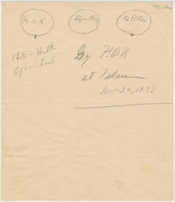 United_Nations_organization_sketch_by_Franklin_Roosevelt_with_the_Four_Policemen_in_1943