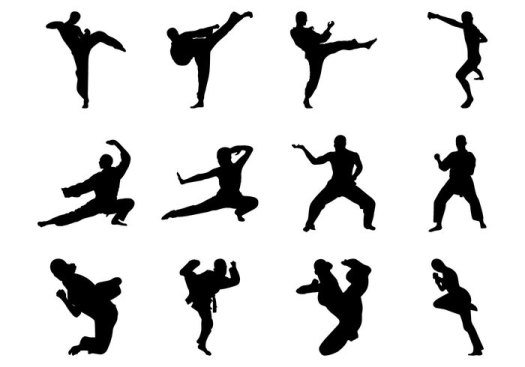 free-martial-arts-silhouette-vector