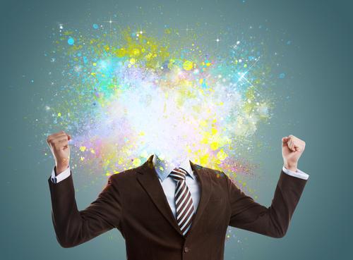 Concept of creative idea of a businessman
